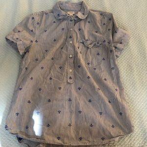 J. Crew Anchor blouse ⚓️